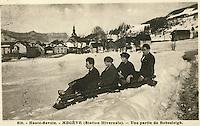 Europe/France/Rhône-Alpes/74/Haute-Savoie/Megève: Musée du Haut-Val-d'Arly dans une ancienne ferme (arts et traditions populaires) - Ancienne photo de la station - Luge