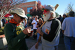 Old friends Kevin Sullivan and Gregory Liston both from Carson City meet up at the annual Telegraph Square street party during the Nevada Day celebration in Carson City, Nev., on Saturday, October 28, 2017.<br /> Photo by Lance Iversen/Nevada Momentum
