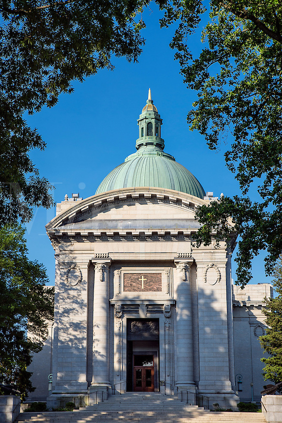 The United States Naval Academy Chapel, Annapolis, Maryland, USA. 1908