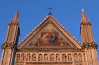 """Europe/Italie/Ombrie/Orvieto : Mosaïques de la façade de la cathédrale """"Duomo d'Orvieto"""" (XIII° architecture gothico-romane"""