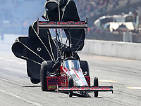 Oct 4, 2020; Madison, Illinois, USA; NHRA top fuel driver Steve Torrence during the Midwest Nationals at World Wide Technology Raceway. Mandatory Credit: Mark J. Rebilas-USA TODAY Sports
