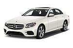 2019 Mercedes Benz E-class 300 4 Door Sedan angular front stock photos of front three quarter view