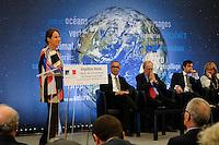"""SÈgolËne Royal - Chakib Benmoussa - Maurice Strong - Ouverture du sÈminaire international """"Quelles solutions pour la MÈditerranÈe?"""" au MinistËre de l'Environnement ‡ Paris, France, le 23/02/2017."""