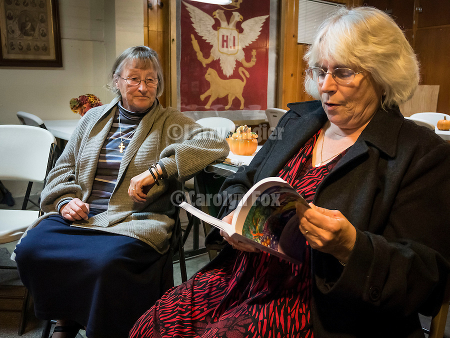 """Bishop Maxim visits St. Sava Church on December 1 for book signing with Milina Gajic-Jovanovic author of the book """"All Roads Lead to Jackson"""" with dinner at the National Hotel."""