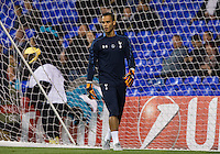 Goalkeeper Michel Vorm of Tottenham Hotspur warms up during the UEFA Europa League match between Tottenham Hotspur and Qarabag FK at White Hart Lane, London, England on 17 September 2015. Photo by Andy Rowland.