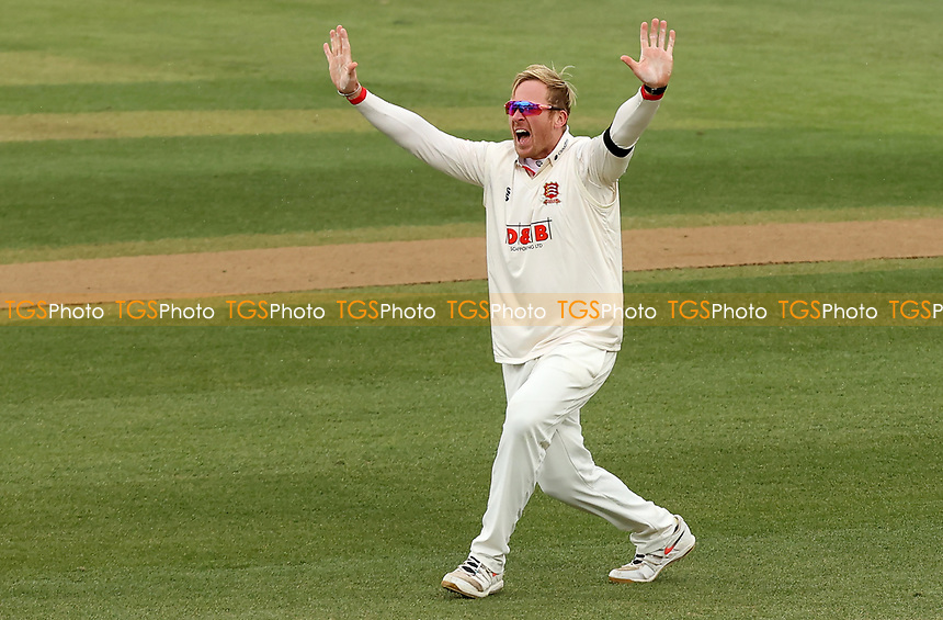 Simon Harmer of Essex appeals for a wicket during Essex CCC vs Worcestershire CCC, LV Insurance County Championship Group 1 Cricket at The Cloudfm County Ground on 10th April 2021