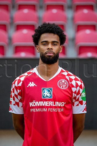 16th August 2020, Rheinland-Pfalz - Mainz, Germany: Official media day for FSC Mainz players and staff; Jeremiah St. Juste FSV Mainz 05