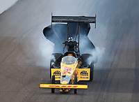 Feb 21, 2020; Chandler, Arizona, USA; NHRA top fuel driver Shawn Langdon during qualifying for the Arizona Nationals at Wild Horse Pass Motorsports Park. Mandatory Credit: Mark J. Rebilas-USA TODAY Sports