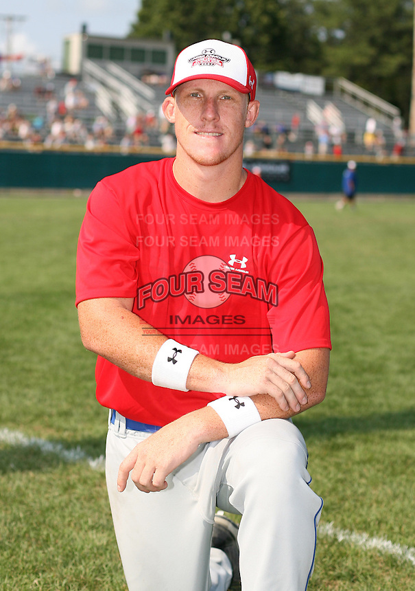 July 28th 2007:  Allan Dykstra during the Cape Cod League All-Star Game at Spillane Field in Wareham, MA.  Photo by Mike Janes/Four Seam Images