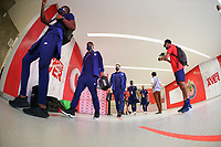 ZAPOPAN, MEXICO - MARCH 21: USMNT U23 players arrive before a game between Dominican Republic and USMNT U-23 at Estadio Akron on March 21, 2021 in Zapopan, Mexico.
