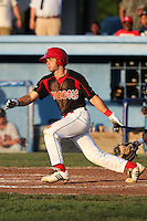 Batavia Muckdogs infielder Garrett Wittels #21 during a game against the Tri-City ValleyCats at Dwyer Stadium on July 14, 2011 in Batavia, New York.  Batavia defeated Tri-City 6-3.  (Mike Janes/Four Seam Images)