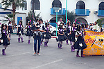 SCHOOL KIDS IN PIRATE COSTUMES MARCH IN CARNIVAL PARADE (2)