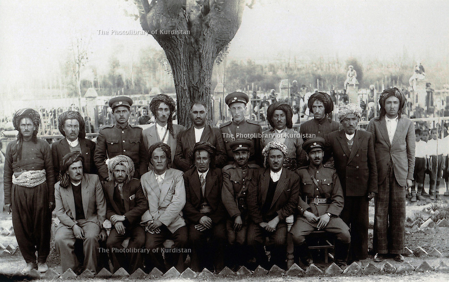 Iran 1946 The government of the Republic of Kurdistan in Mahabad : the ministers. <br />