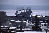 The Soo Line ore dock in the lower harbor of Marquette, Michigan, on Lake Superior.
