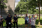 New York, New York<br /> Ground Zero<br /> August 24, 2013<br />  <br /> 9/11 memorial to the victims of the terrorist attack on in lower Manhattan on September 11, 2001.
