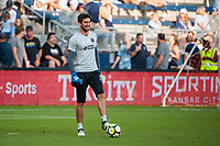 Kansas City, KS - Wednesday August 9, 2017: Andrew Tarbell during a Lamar Hunt U.S. Open Cup Semifinal match between Sporting Kansas City and the San Jose Earthquakes at Children's Mercy Park.