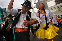 15.02.2010 La Paz (Bolivia)<br /> <br /> Couple dancing during the carnival.<br /> <br /> Couple en train de danser pendant le carnaval.