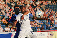 Myles Weston of Wycombe Wanderers holds up the ball during the Friendly match between Wycombe Wanderers and Brentford at Adams Park, High Wycombe, England on 19 July 2016. Photo by David Horn PRiME Media Images.