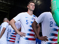 CARSON, CA - FEBRUARY 1: Walker Zimmerman #5 of the United States waits in the tunnel during a game between Costa Rica and USMNT at Dignity Health Sports Park on February 1, 2020 in Carson, California.