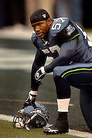 Oct. 23, 2005; Seattle, WA, USA; Linebacker (57) Kevin Bentley of the Seattle Seahawks against the Dallas Cowboys at Qwest Field. Mandatory Credit: Mark J. Rebilas