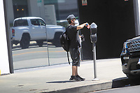 David Faustino Pays The Parking Meter In Hollywood