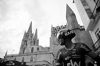 Sergio Henao (COL/SKY) in front of the Burgos cathedral after finishing his TT<br /> <br /> stage 17: Burgos-Burgos TT (38.7km)<br /> 2015 Vuelta à Espana