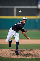 Detroit Tigers relief pitcher Zac Reininger (26) delivers a pitch during a Grapefruit League Spring Training game against the Atlanta Braves on March 2, 2019 at Publix Field at Joker Marchant Stadium in Lakeland, Florida.  Tigers defeated the Braves 7-4.  (Mike Janes/Four Seam Images)