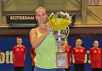 December 21, 2014, Rotterdam, Topsport Centrum, Lotto NK Tennis, Richel Hogenkamp wins the NK<br /> Photo: Tennisimages/Henk Koster