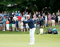2nd July 2021; Mount Juliet Golf Club, Kilkenny, Ireland; Dubai Duty Free Irish Open Golf, Day Two; Rory Mcilroy of Northern Ireland reacts to his putt on the 14th hole