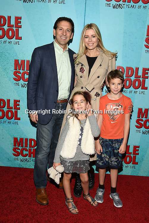 """Aviva Drescher, Reid Drescher and children attends the """"Middle School: The Worst Years of My Life"""" New York Screening on October 1, 2016 at the Regal E-Walk in New York, New York, USA.<br /> <br /> photo by Robin Platzer/Twin Images<br />  <br /> phone number 212-935-0770"""