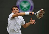 England, London, 28.06.2014. Tennis, Wimbledon, AELTC, Grigor Dimitrov (BUL)<br /> Photo: Tennisimages/Henk Koster
