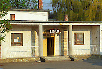 "In the Tokaj village Mad: a bar / café with a sign advertising ""Unicum"" the very typical Hungarian alcohol. Mad is one of the main villages in the Tokaj district.  Credit Per Karlsson BKWine.com"