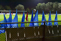 illustration picture flags during a female soccer game between AA Gent Ladies and SV Zulte-Waregem on the fifth matchday in the 2021 - 2022 season of Belgian Scooore Womens Super League , friday 1 October 2021  in Oostakker , Belgium . PHOTO SPORTPIX | STIJN AUDOOREN
