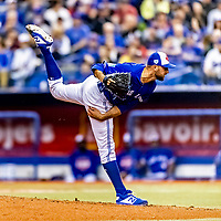 25 March 2019: Toronto Blue Jays pitcher Tim Mayza on the mound during an exhibition game against the Milwaukee Brewers at Olympic Stadium in Montreal, Quebec, Canada. The Brewers defeated the Blue Jays 10-5 in the first of two MLB pre-season games in the former home of the Montreal Expos. Mandatory Credit: Ed Wolfstein Photo *** RAW (NEF) Image File Available ***