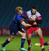 2nd October 2020; RDS Arena, Dublin, Leinster, Ireland; Guinness Pro 14 Rugby, Leinster versus Dragons; Tommy O'Brien (Leinster) tackles Jonah Holmes (Dragons)
