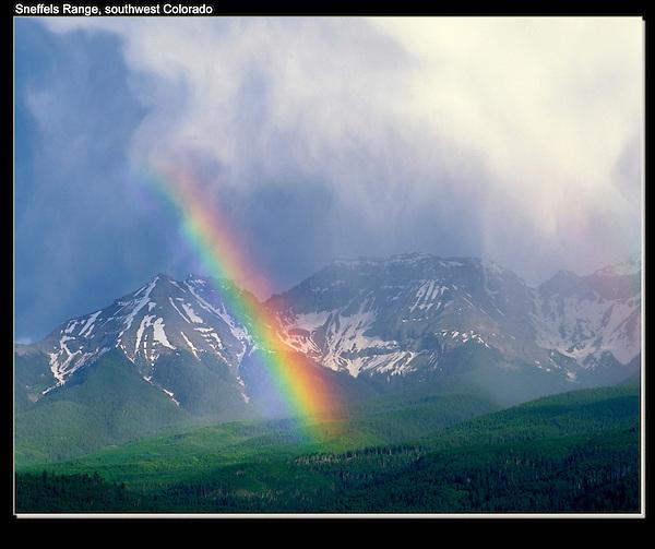 Rainbow,  Sneffels Range, San Juan Mountains, Ridgeway, Colorado. John guides custom photo tours in the Sneffels Range and throughout Colorado.