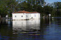 Photos: Floodwaters at Red Star District in Cape Girardeau, Southeast Missouri Receding
