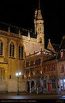 Basilica of the Holy Blood at Night, 12th-15th century, Burg Square, Bruges, Brugge, Belgium