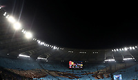 Football, Serie A: AS Roma - S.S. Lazio, Olympic stadium, Rome, January 26, 2020. <br /> S.S Lazio fans unfurl a giant tifo prior to the Italian Serie A football match between Roma and Lazio at Olympic stadium in Rome, on January,  26, 2020. <br /> UPDATE IMAGES PRESS/Isabella Bonotto