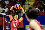 Koyomi Tominaga of Japan in action during the FIVB Volleyball Nations League Hong Kong match between Japan and Argentina on May 31, 2018 in Hong Kong, Hong Kong. Photo by Marcio Rodrigo Machado / Power Sport Images