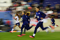 HARRISON, NJ - MARCH 08: Jessica McDonald #22, Mallory Pugh #2, and Ali Krieger #11 of the United States during a game between Spain and USWNT at Red Bull Arena on March 08, 2020 in Harrison, New Jersey.