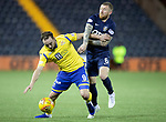 Kilmarnock v St Johnstone…..04.12.19   Rugby Park   SPFL<br />Chris Kane fends off Alan Power<br />Picture by Graeme Hart.<br />Copyright Perthshire Picture Agency<br />Tel: 01738 623350  Mobile: 07990 594431