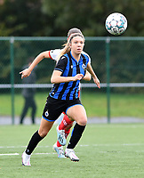 Brugge's Talitha De Groote pictured during a female soccer game between Club Brugge Dames YLA and Zulte Waregem Ladies on the third matchday of the 2020 - 2021 season of Belgian Scooore Womens Super League , saturday 3 October 2020  in Brugge , Belgium . PHOTO SPORTPIX.BE | SPP | DAVID CATRY