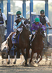 June 7, 2014: Matterhorn (left), Joe Bravo up, and California Chrome, with Victor Espinoza, leave the gate at the start of the Belmont Stakes. Tonalist, trained by Christophe Clement and ridden by Joel Rosario wins the 146th running of the Grade I Belmont Stakes at Belmont Park , Elmont, NY.   ©Joan Fairman Kanes/ESW/CSM