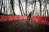 race (and World Cup) leader Wout van Aert (BEL/Jumbo-Visma)<br /> <br /> 2021 UCI CX World Cup Overijse (BEL)<br /> Vlaamse Druivencross<br /> <br /> Men's Race<br /> <br /> ©kramon
