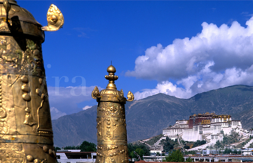 Potala Palace in Lhasa Tibet taken from Jokhang Temple and Monastery