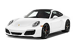 2017 Porsche 911 Carrera S 2 Door Coupe Angular Front stock photos of front three quarter view
