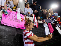 Kristie Mewis, USWNT fans.  The USWNT defeated Scotland, 4-1, during a friendly at EverBank Field in Jacksonville, Florida.