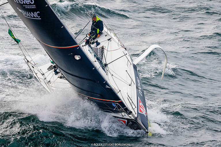 Ad Fichou - Innovéo Bihannic was sailed by Yael Poupon and Victor Le Pape to victory in the Fastnet Race Figaro class