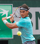 Rafael Nadal (ESP) leads Robby Ginepri 6-0, 4-3 at  Roland Garros being played at Stade Roland Garros in Paris, France on May 26, 2014